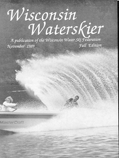 WWSF Wisconsin Water Skier November 1989